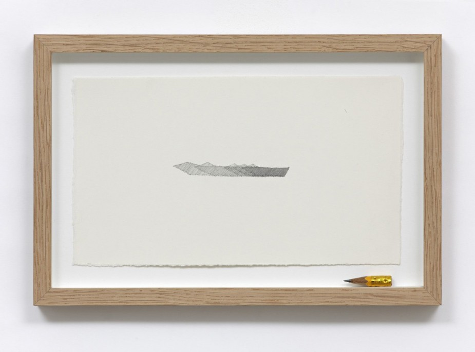 Pavel Büchler Shadow of Its Disappearance, 2011 (detail) 30 x drawings. Graphite on paper with found pencils Courtesy of the artist